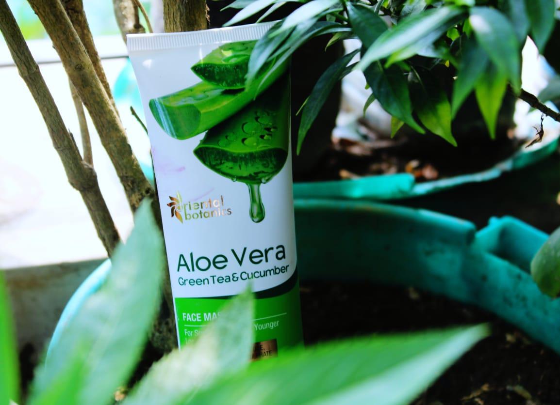 Oriental Botanics Aloe Vera, Green Tea & Cucumber Face Mask pic 2-best face mask for oily skin-By sassy_supriyo