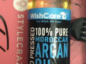 WishCare Pure Cold Pressed Moroccan Argan Oil -Multipurpose oil-By karthiga
