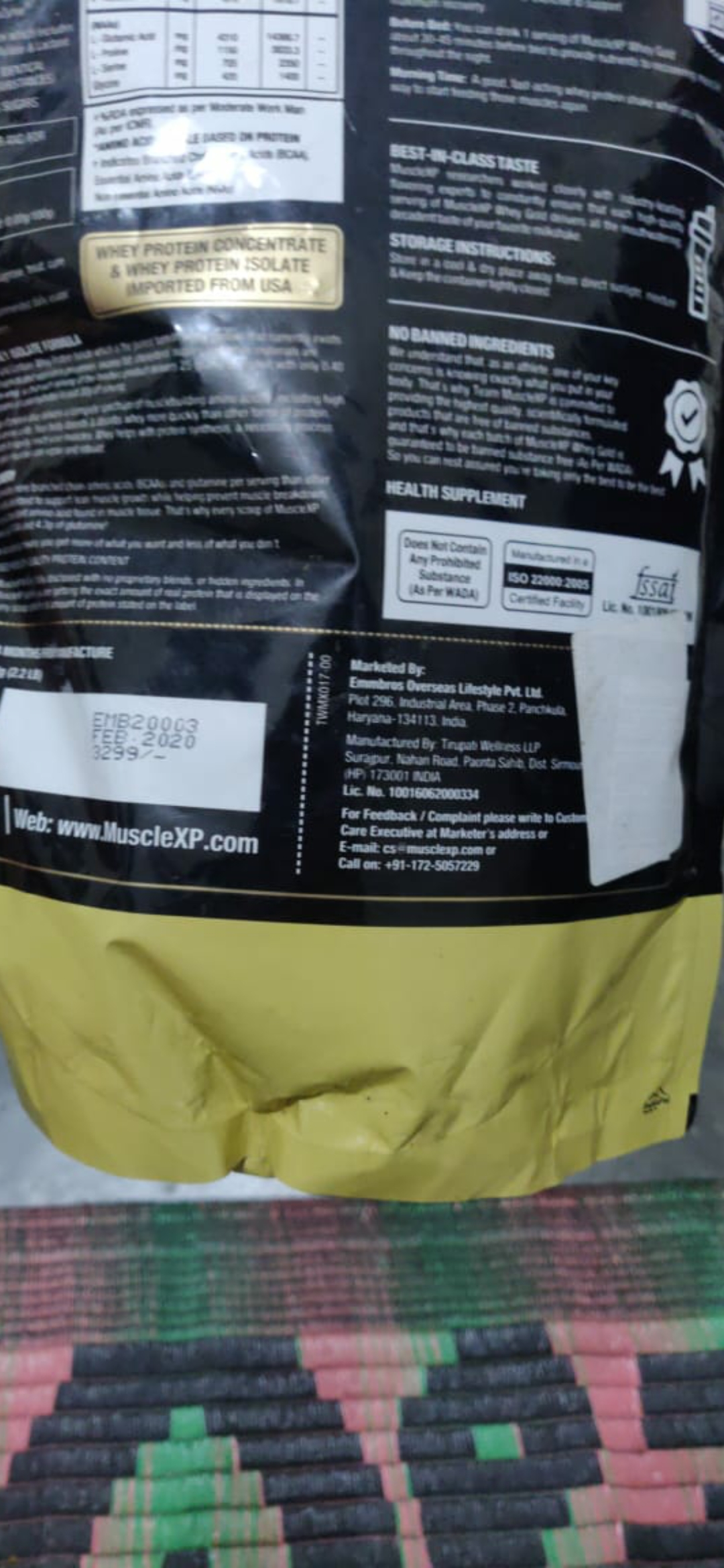 MuscleXP Whey Gold Protein – Premium Whey Protein Isolate with Digestive Enzymes-Good for gaining weight-By anurag_verma-1