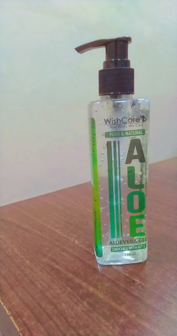 WishCare Pure & Natural Aloe Vera Gel-Hydrating Aloe vera Gel-By komalk4
