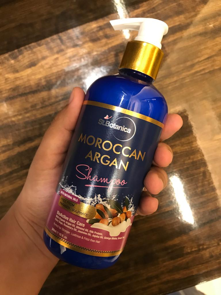 StBotanica Moroccan Argan Hair Shampoo-No Harmful Chemicals!-By mumbai_food_guru-1