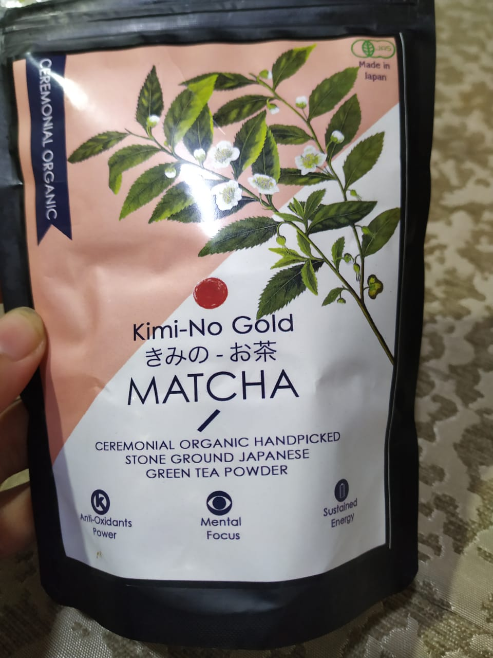 Kimino Gold Matcha Ceremonial Grade Green Tea Powder pic 2-Amazing Organic Matcha Tea-By rita_punjabi