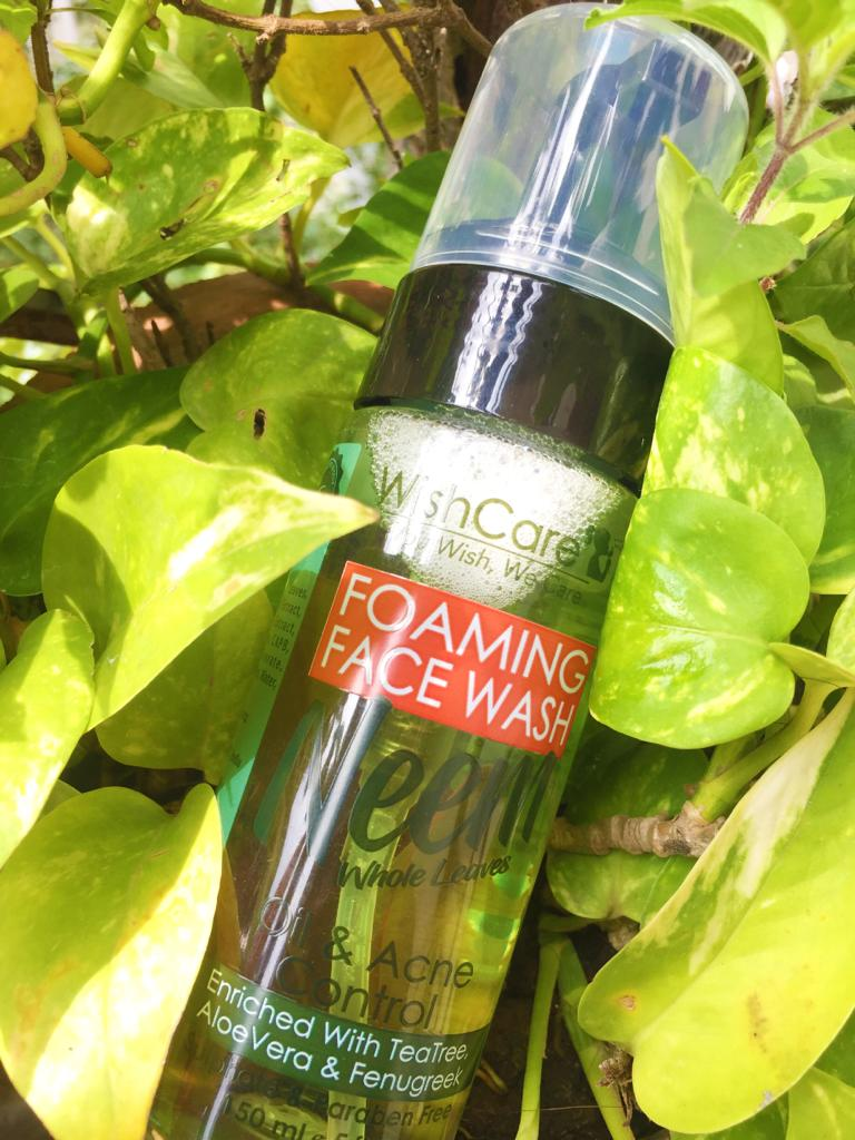 WishCare Foaming Neem Face Wash pic 3-Cleanse skin, removes oil,-By vaishnavi_baheti