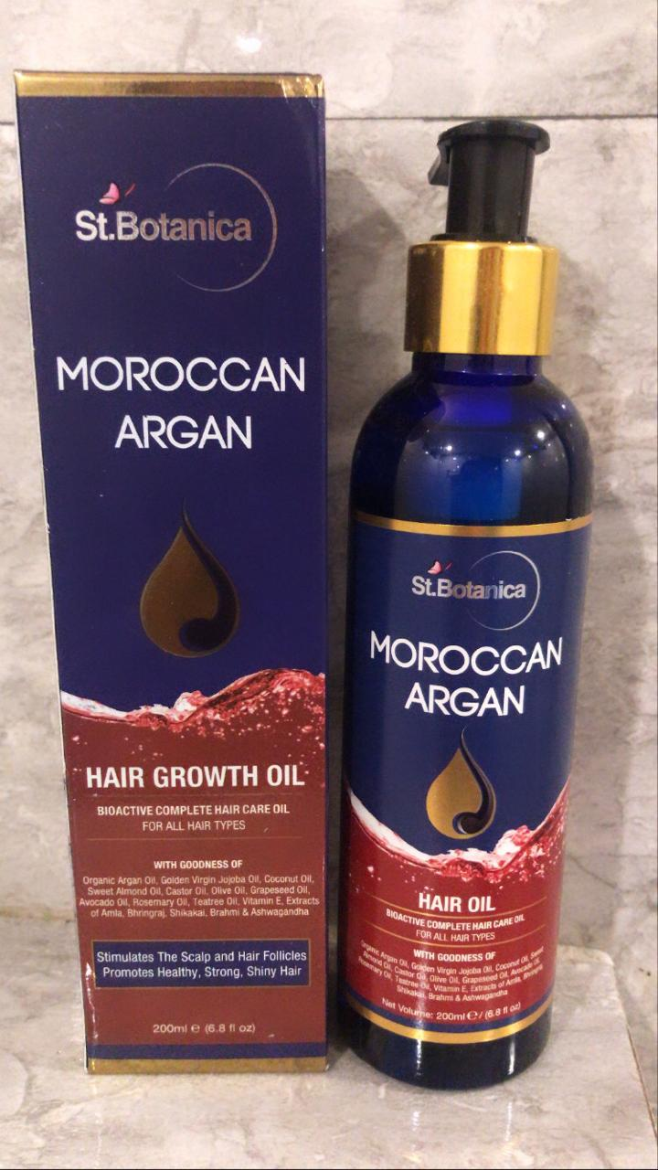 St.Botanica Moroccan Argan Hair Growth Oil pic 2-Best for dry and frizzy hairs-By babitanwar