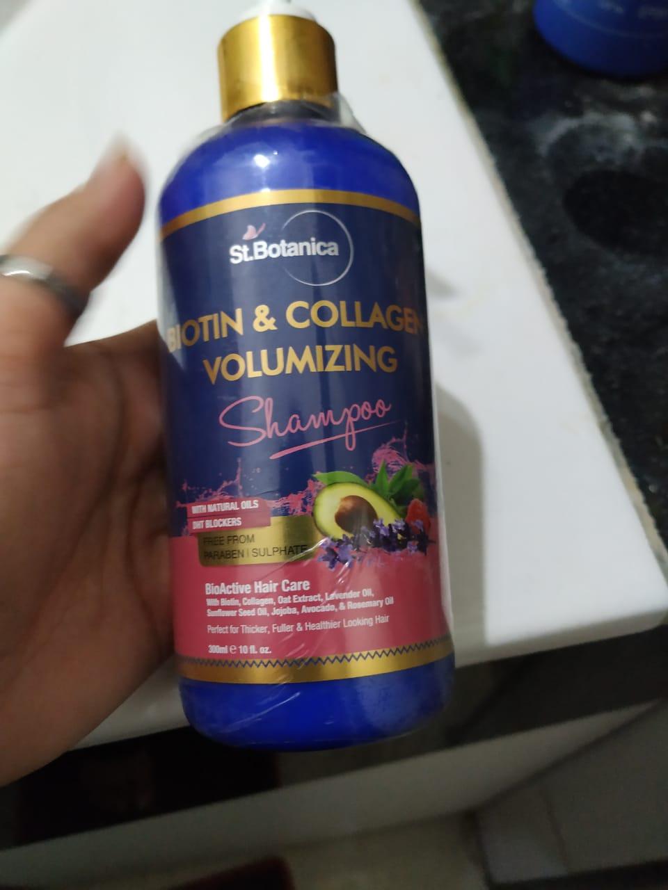 St.Botanica Biotin & Collagen Volumizing Hair Shampoo-Good Shampoo for instant voluminous and bouncy hair…-By rita_punjabi