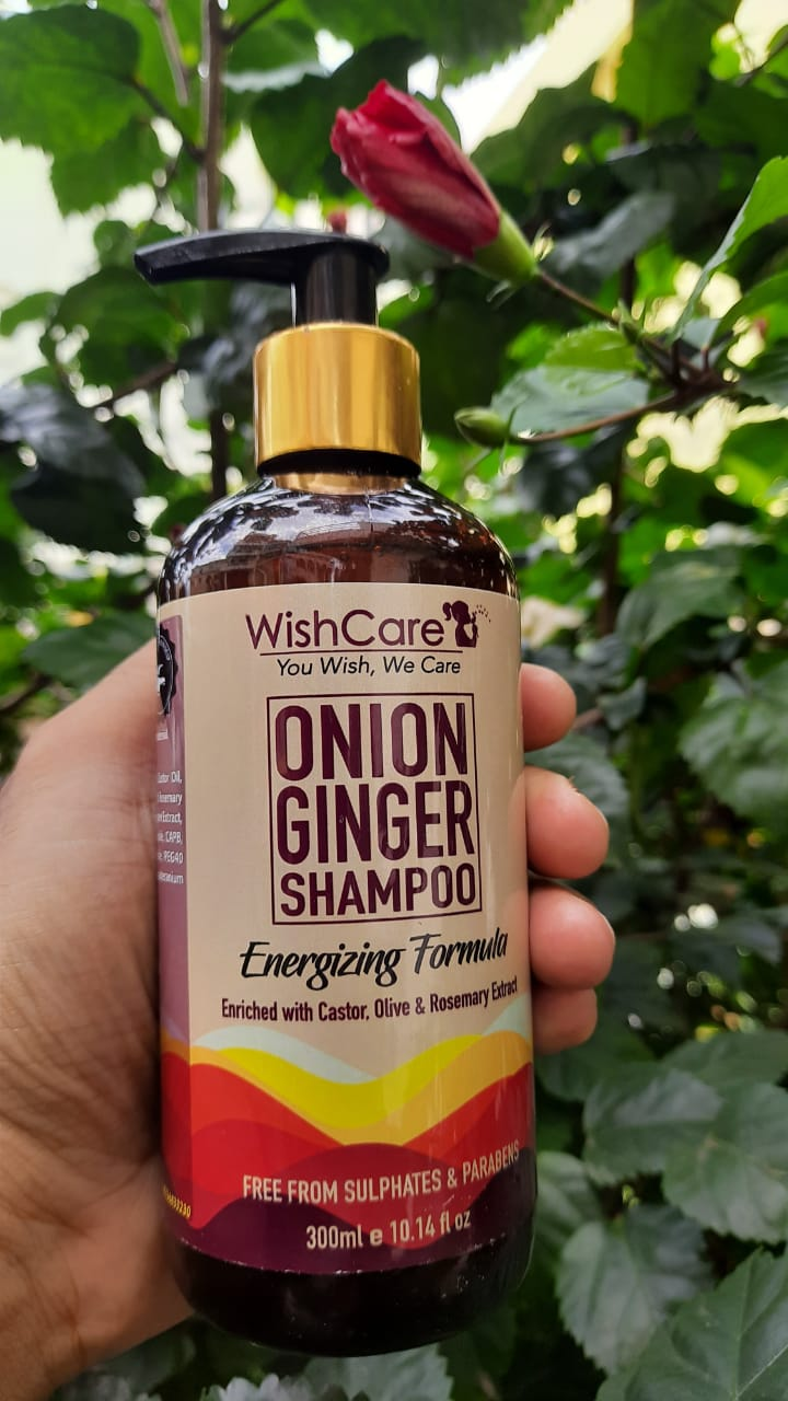 WishCare Onion Ginger Shampoo-Reduced Hair Fall-By shruthisinghm