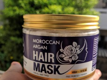 St.Botanica Moroccan Argan Hair Mask pic 1-Best hair mask for dry and fizzy hair!-By kav_gan