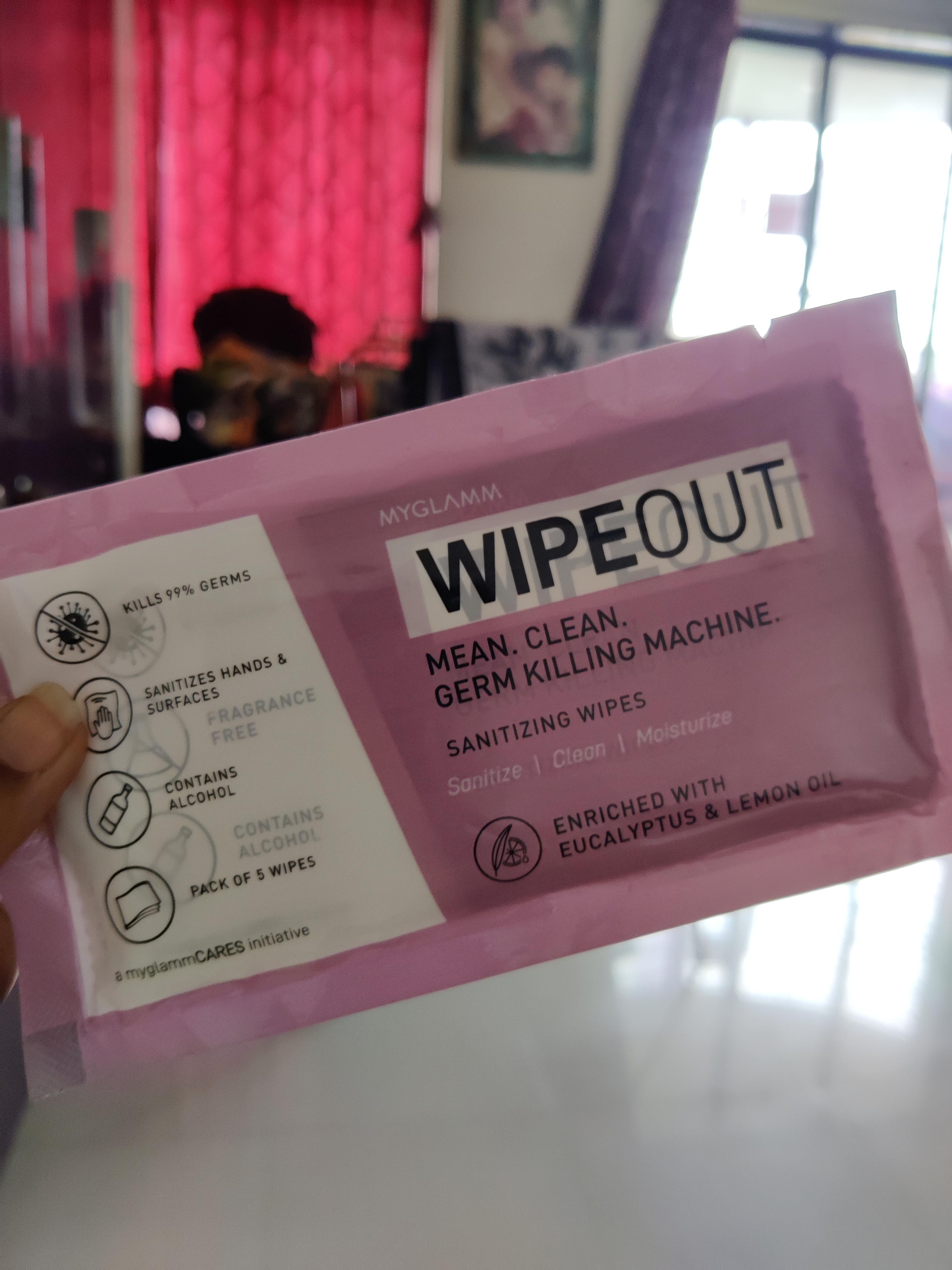MyGlamm Wipeout Sanitizing Wipes-Bye bye germs-By pratz_nahar74