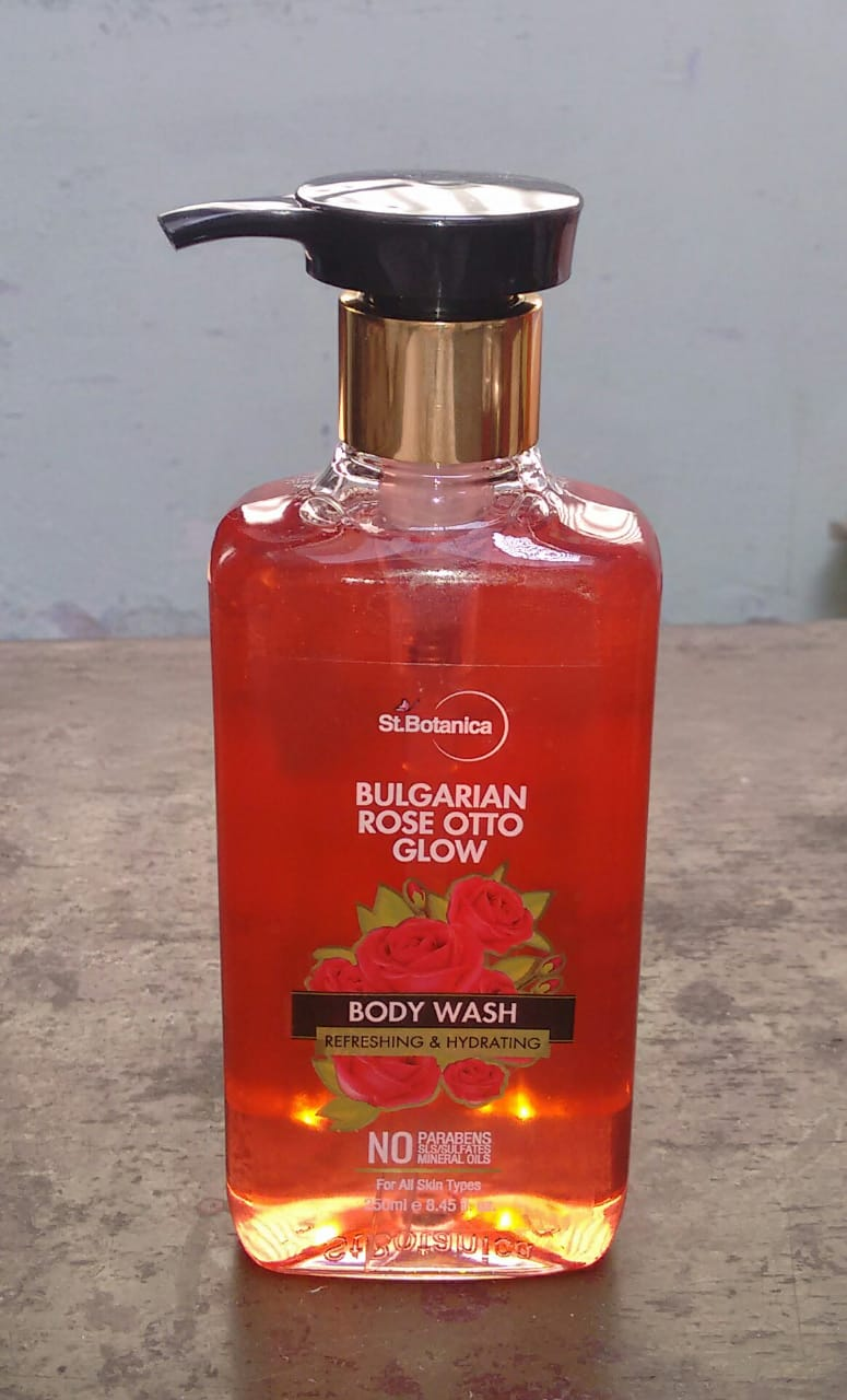 StBotanica Bulgarian Rose Otto Glow Body Wash-Body wash with amazing rose fragrance-By komalv
