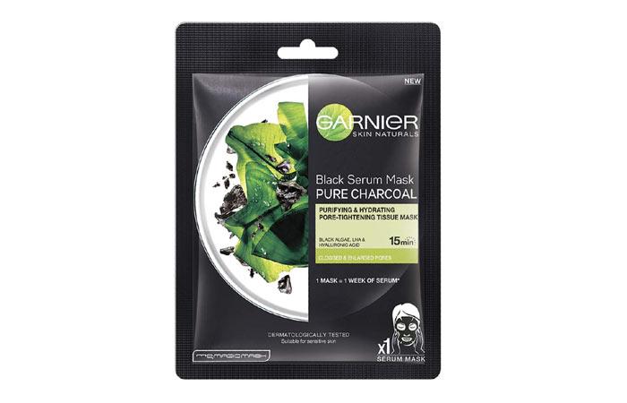 Garnier Skin Naturals, Charcoal, Face Serum Sheet Mask