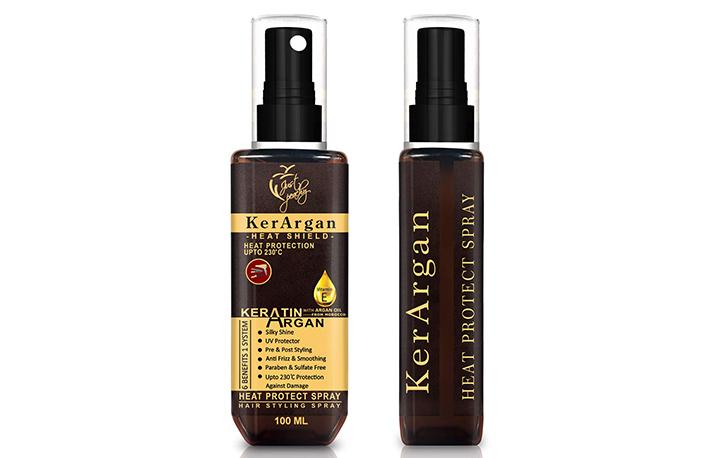 Just Peachy KerArgan Heat Protect Spray
