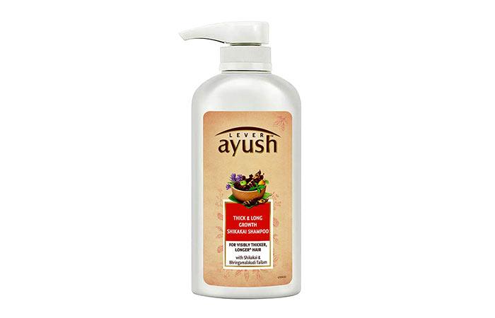 Lever Ayush Thick & Long Growth Shikakai Shampoo