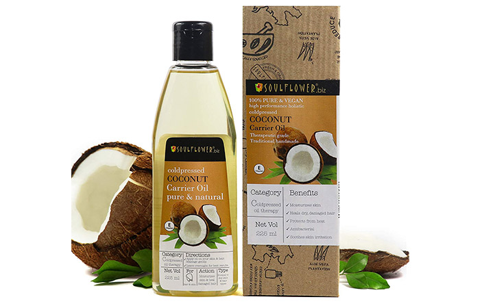 Soulflower Cold-pressed Coconut Carrier Oil