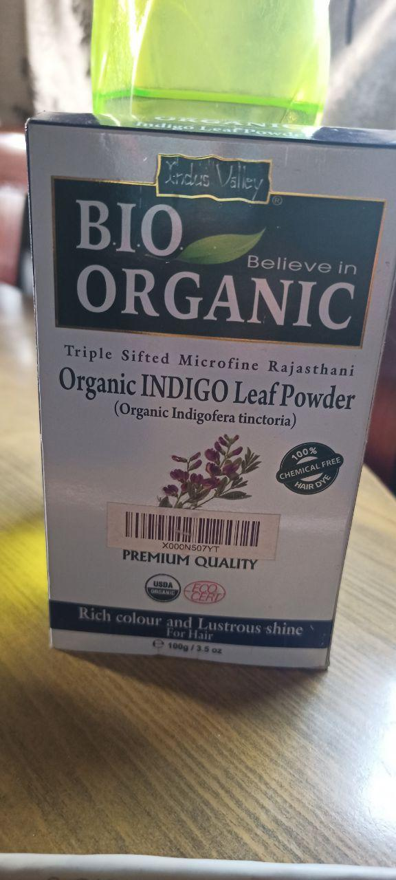 Indus Valley Bio Organic Indigo Leaf powder for Hair Coloring -Organic hair colour-By sayaani_ladki
