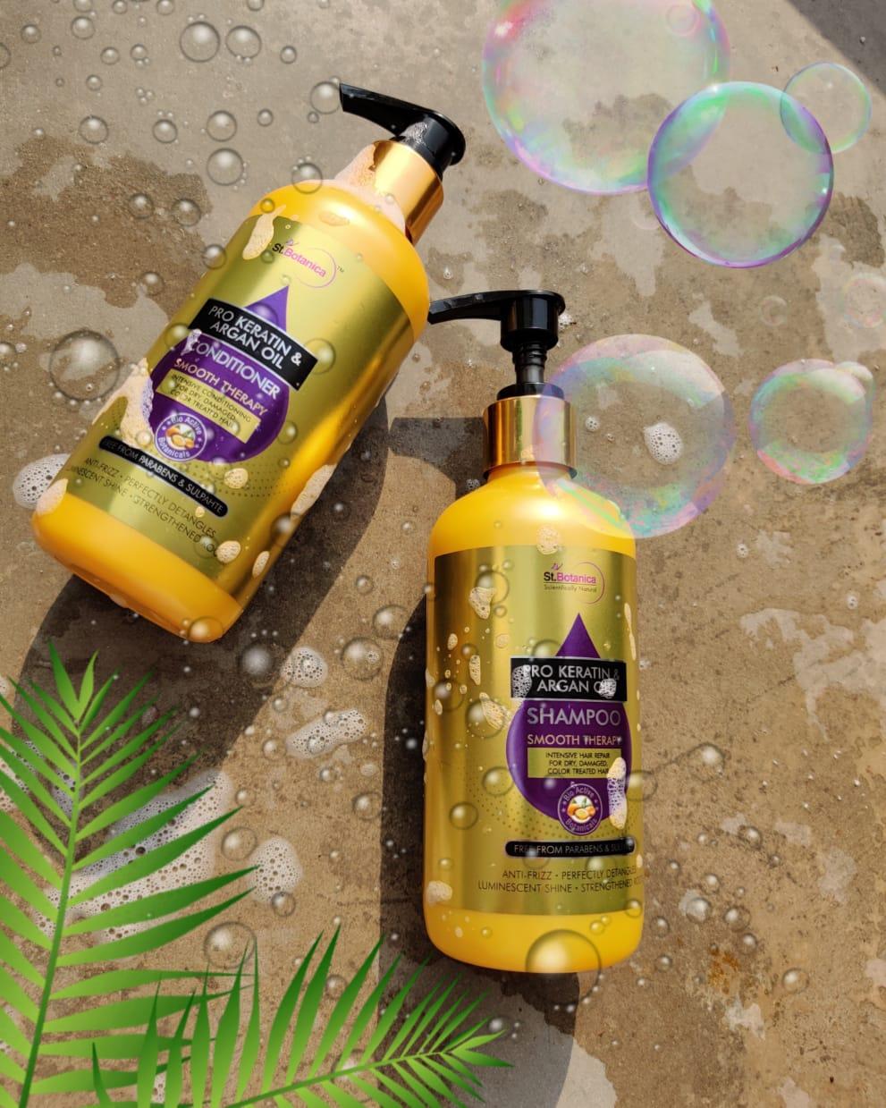 St.Botanica Pro Keratin & Argan Oil Shampoo-Best shampoo for dry and frizzy hair-By jagriti2468