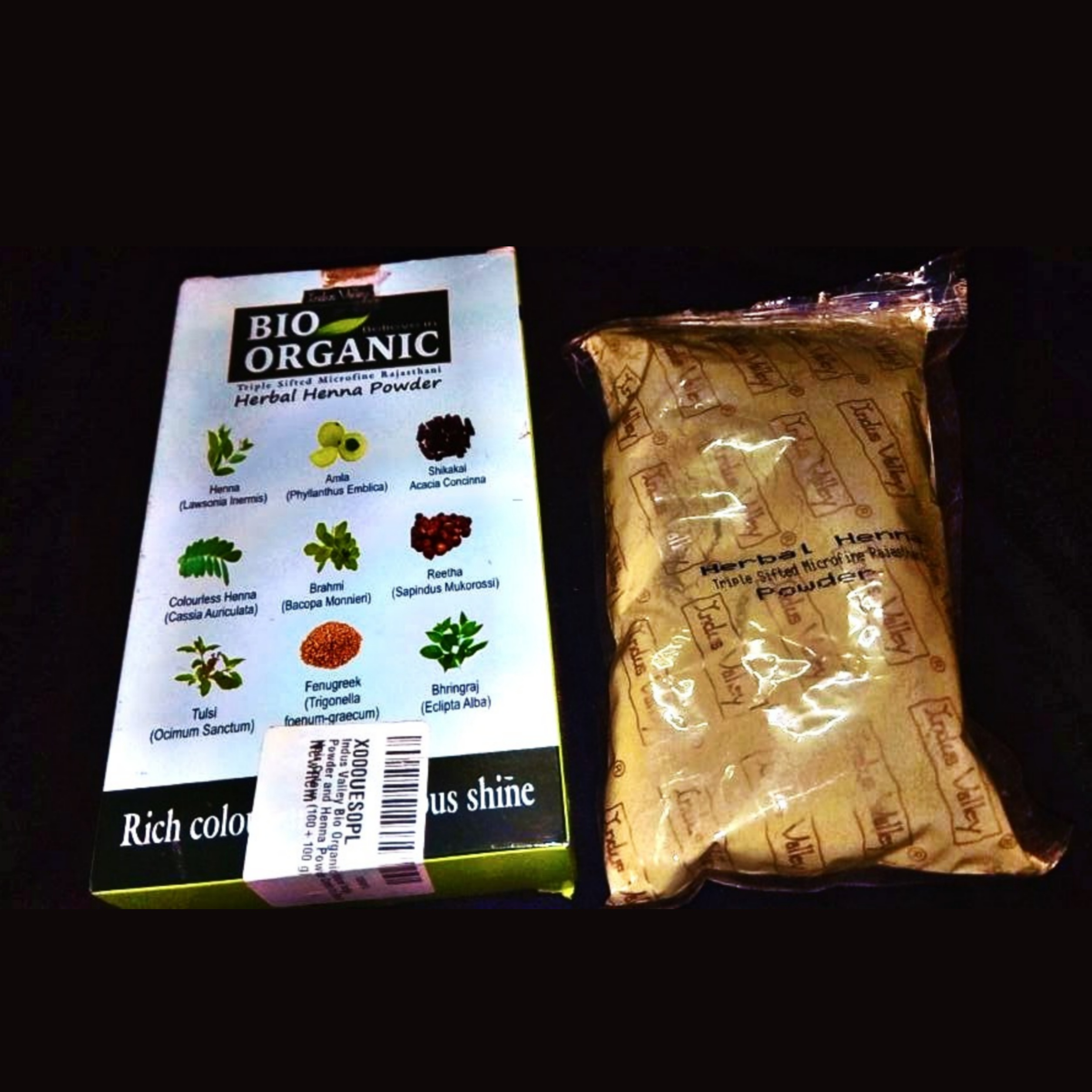 Indus Valley Bio Organic Herbal Henna Powder -Gives good colour-By riddhi14