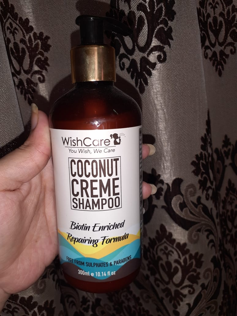 WishCare Coconut Creme Shampoo With Biotin -Value for Money !!-By foodie_minati