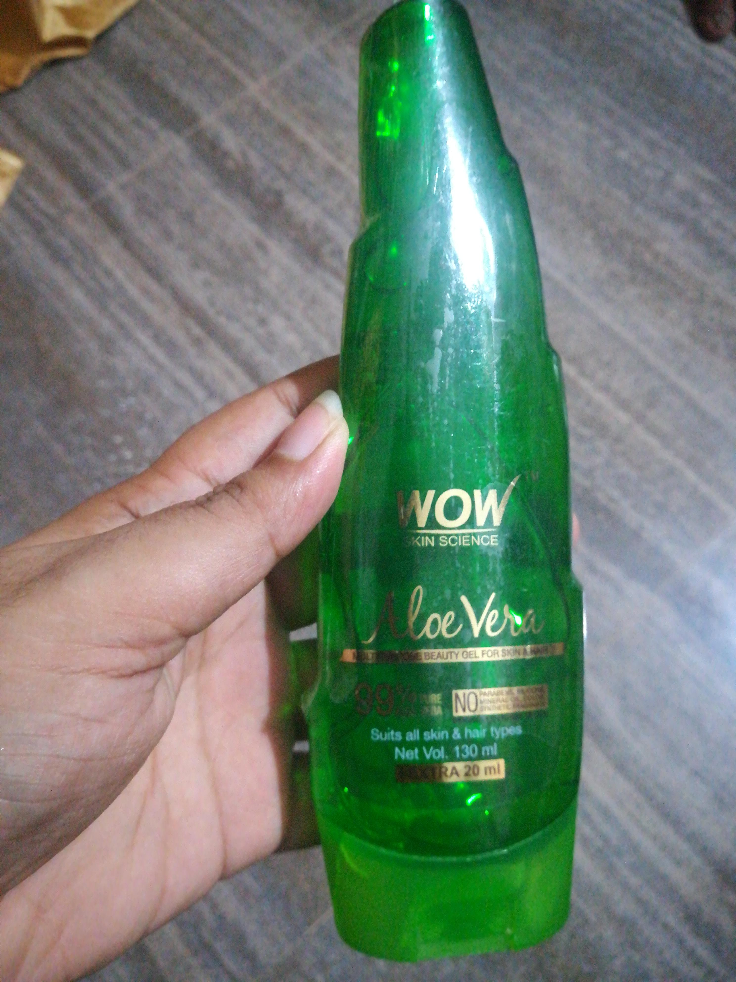 WOW Skin Science Aloe Vera Gel -Best aloe vera gel-By vaishnavi11