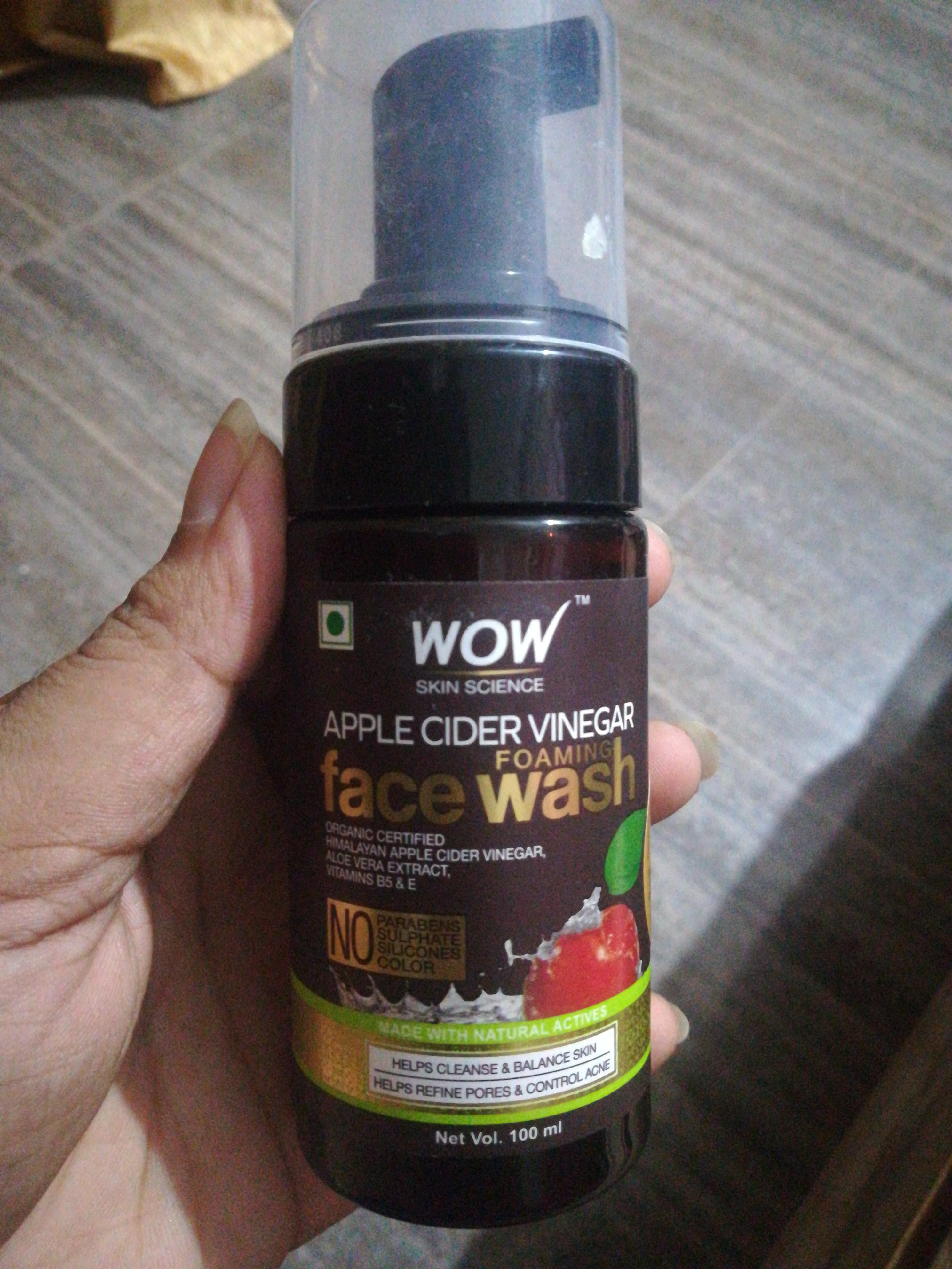WOW Skin Science Apple Cider Vinegar Foaming Face Wash-Best cleanser-By vaishnavi11