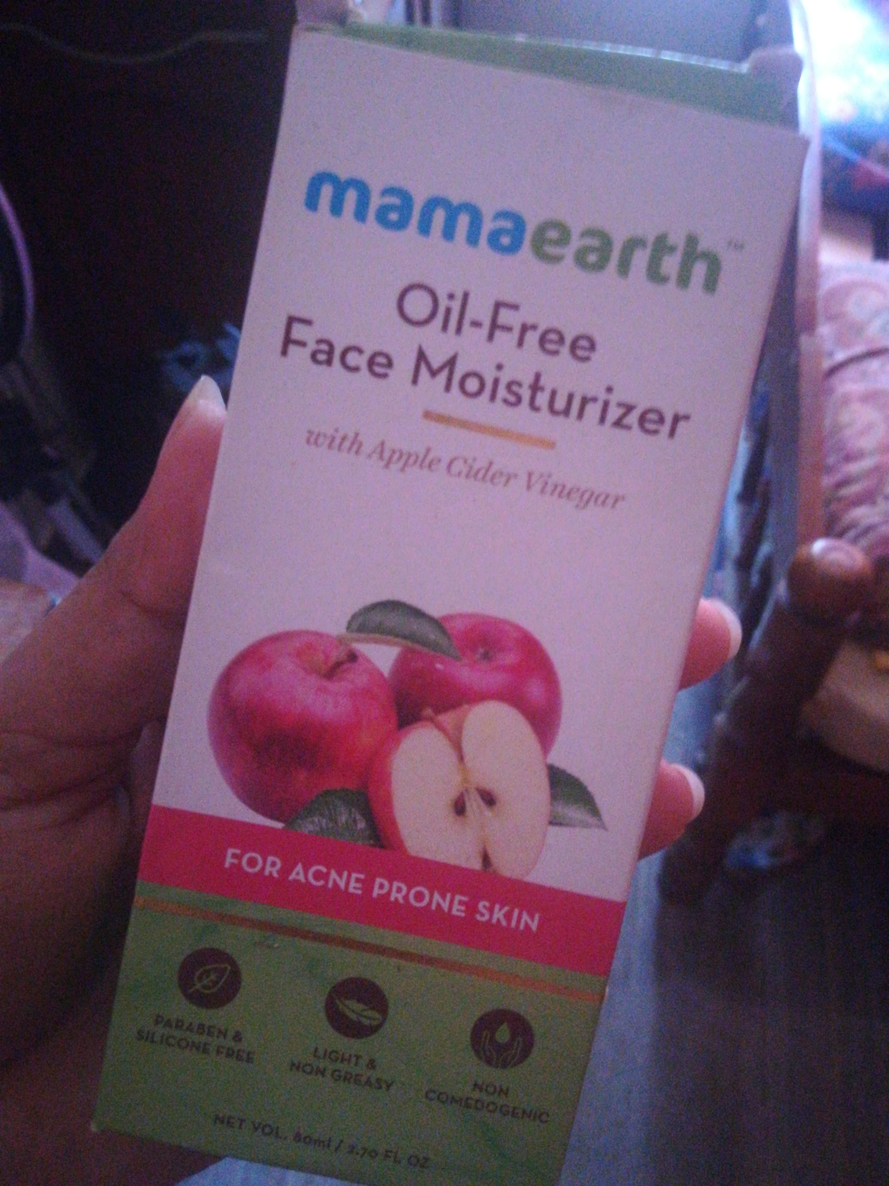 Mamaearth Oil Free Face Moisturizer With Apple Cider Vinegar-BEST MOISTURISER FOR OILY SKIN-By vaishnavi11