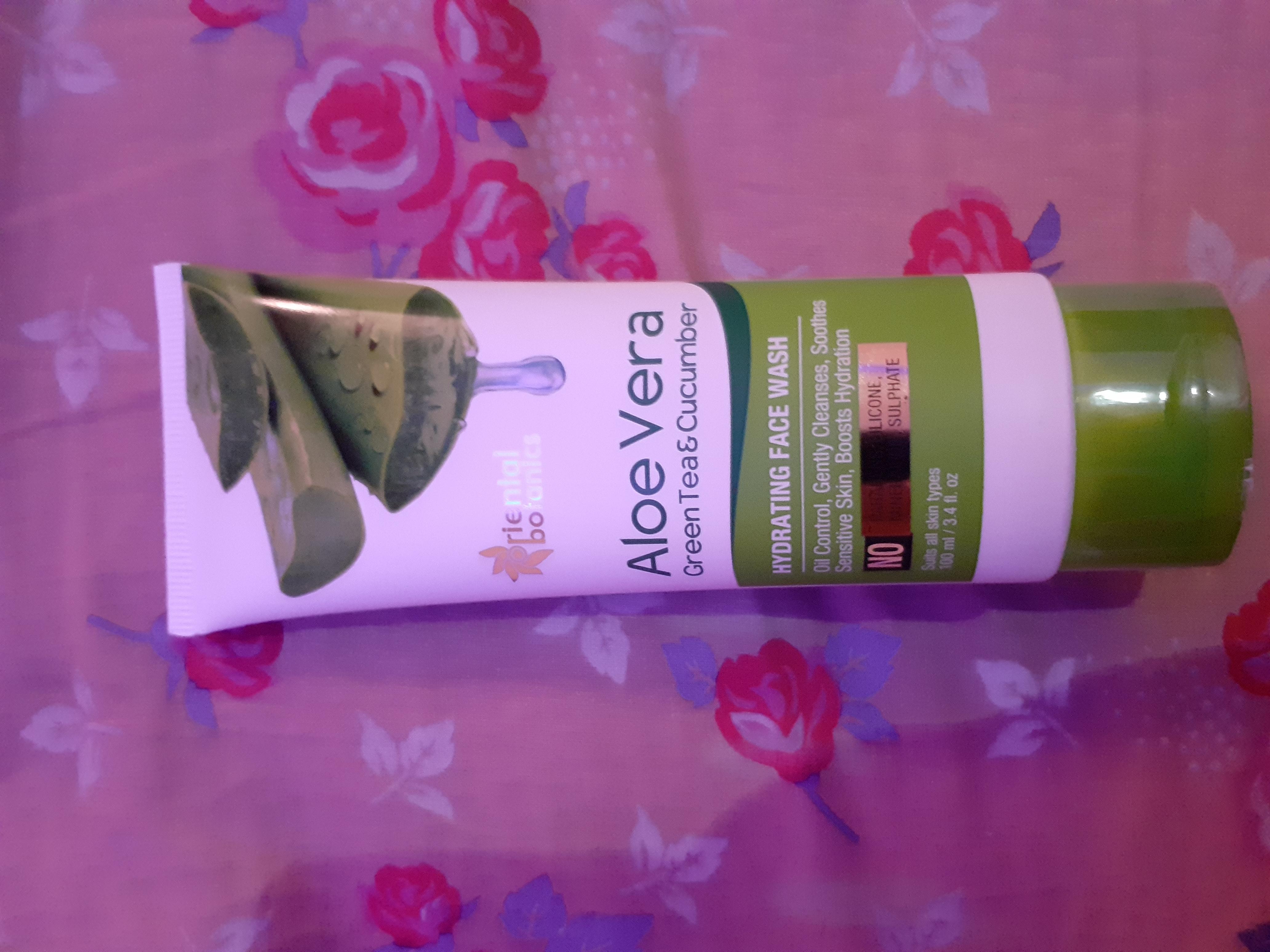 Oriental Botanics Aloe Vera, Green Tea & Cucumber Hydrating Face Wash -Aloevera face wash-By swati_shah_