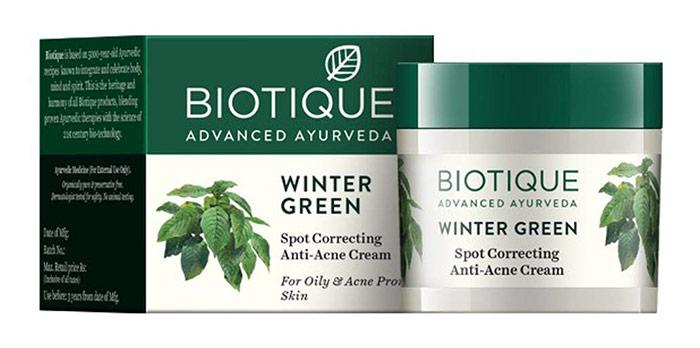 BIOTIQUE WINTER GREEN Spot Correcting Anti-Acne Cream