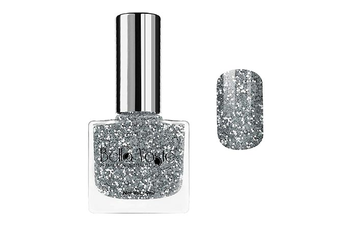 Bella Voste Premium Nail Enamel – Silver Glitter
