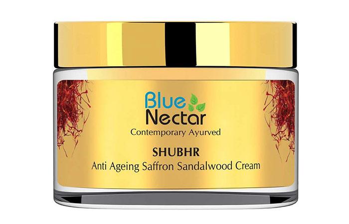 Blue Nectar SHUBHR Anti Ageing Saffron Sandalwood Cream