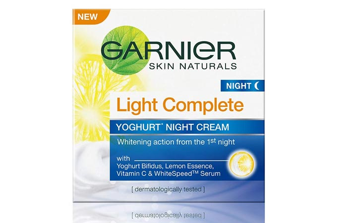 Garnier Skin Naturals Light Complete Yoghurt Night Cream