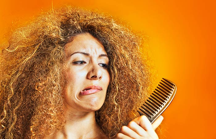 Types Of Frizzy Hair - In the curls