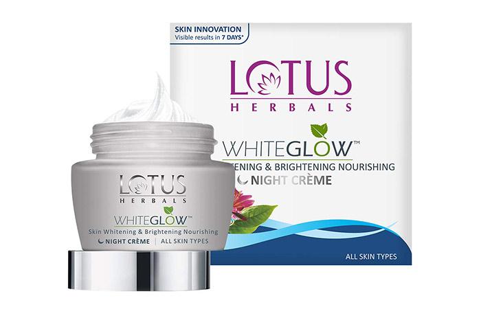 LOTUS HERBALS WHITEGLOW Skin Whitening & Brightening Nourishing Night Crème