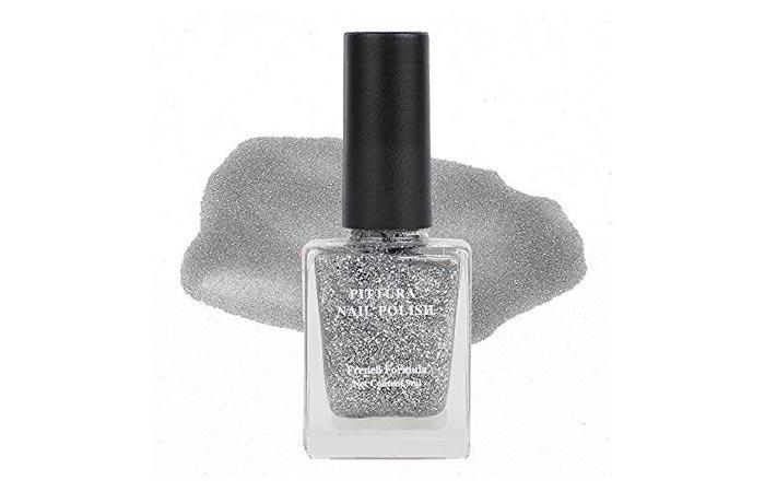 MINISO Pittura Nail Polish – Sequin Silver