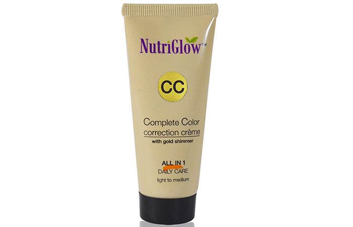 Nutriglow Complete Color Correction Creme With Gold Shimmer