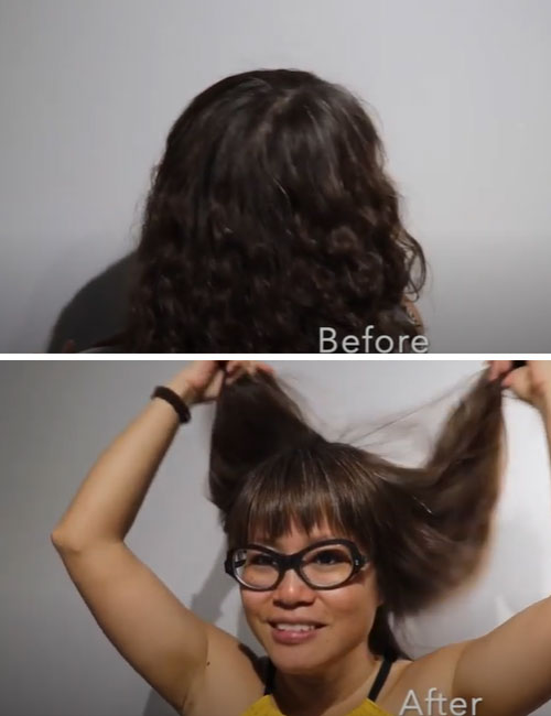The Straight Perm – Before And After (With Picture)