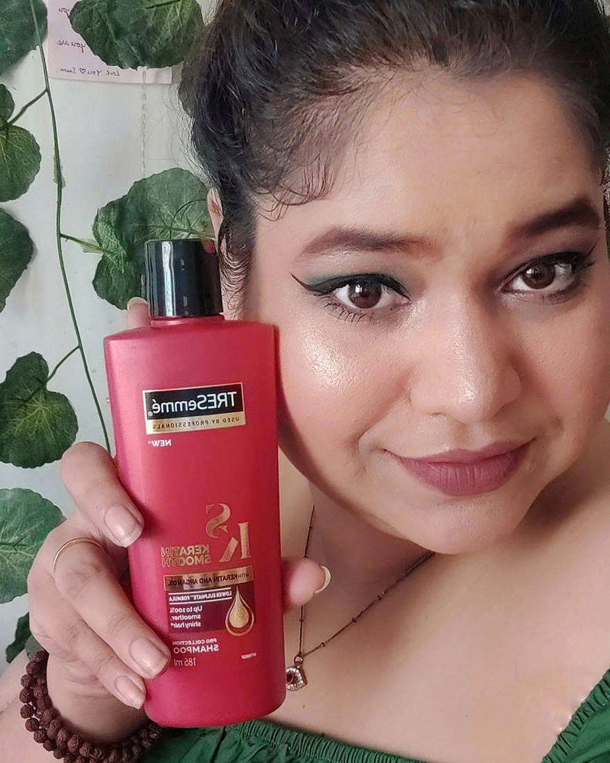 Tresemme Keratin Smooth Infusing Shampoo-This Shampoo is great for frizzy hair.-By nayakaishwarya