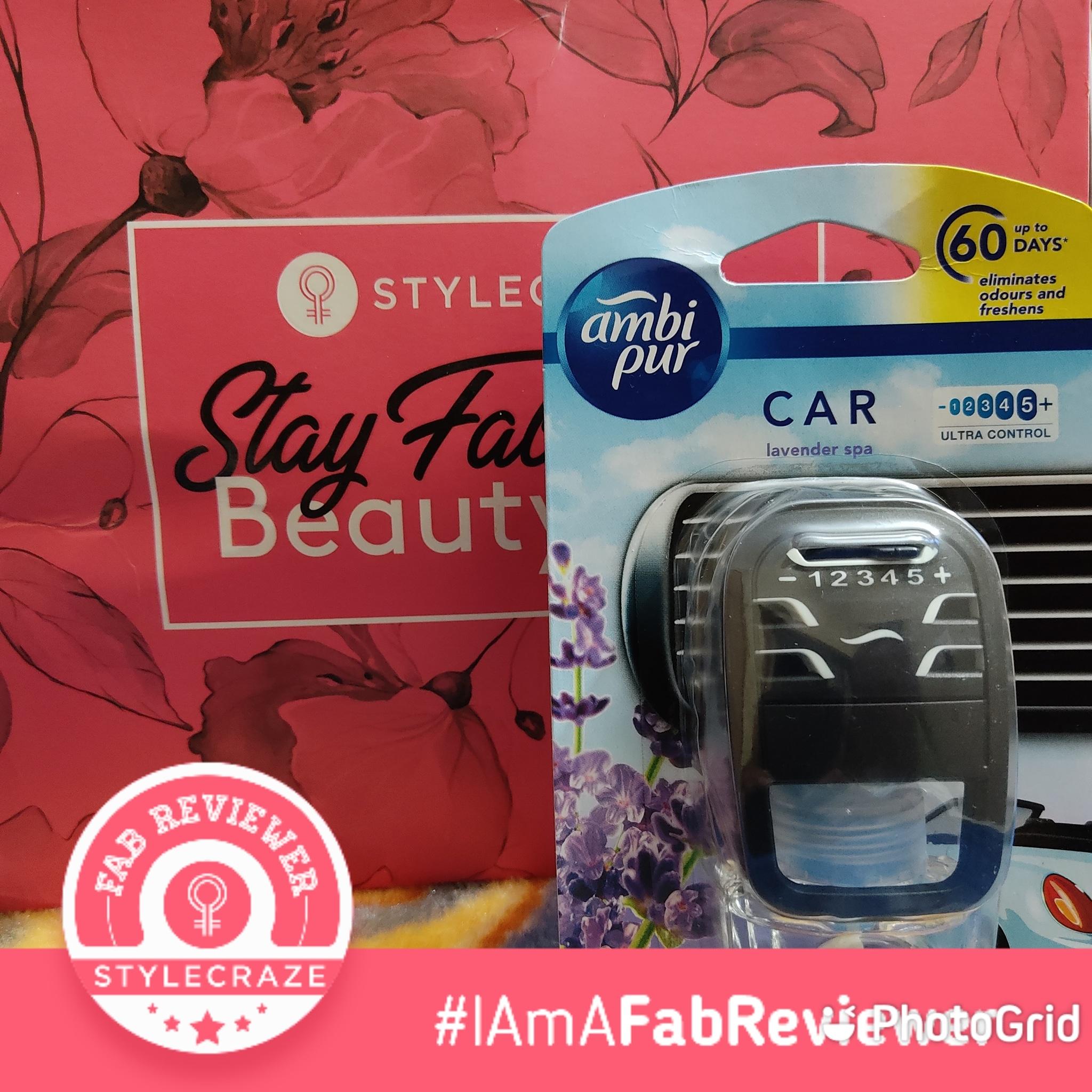 Ambipur Car Air Freshener Lavender Spa-Makes fresh and breathing environment-By navbamrah
