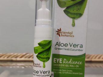 Oriental Botanics Aloe Vera, Green Tea & Cucumber Under Eye Gel Roll-On -Removes dark circles-By monika_bisht
