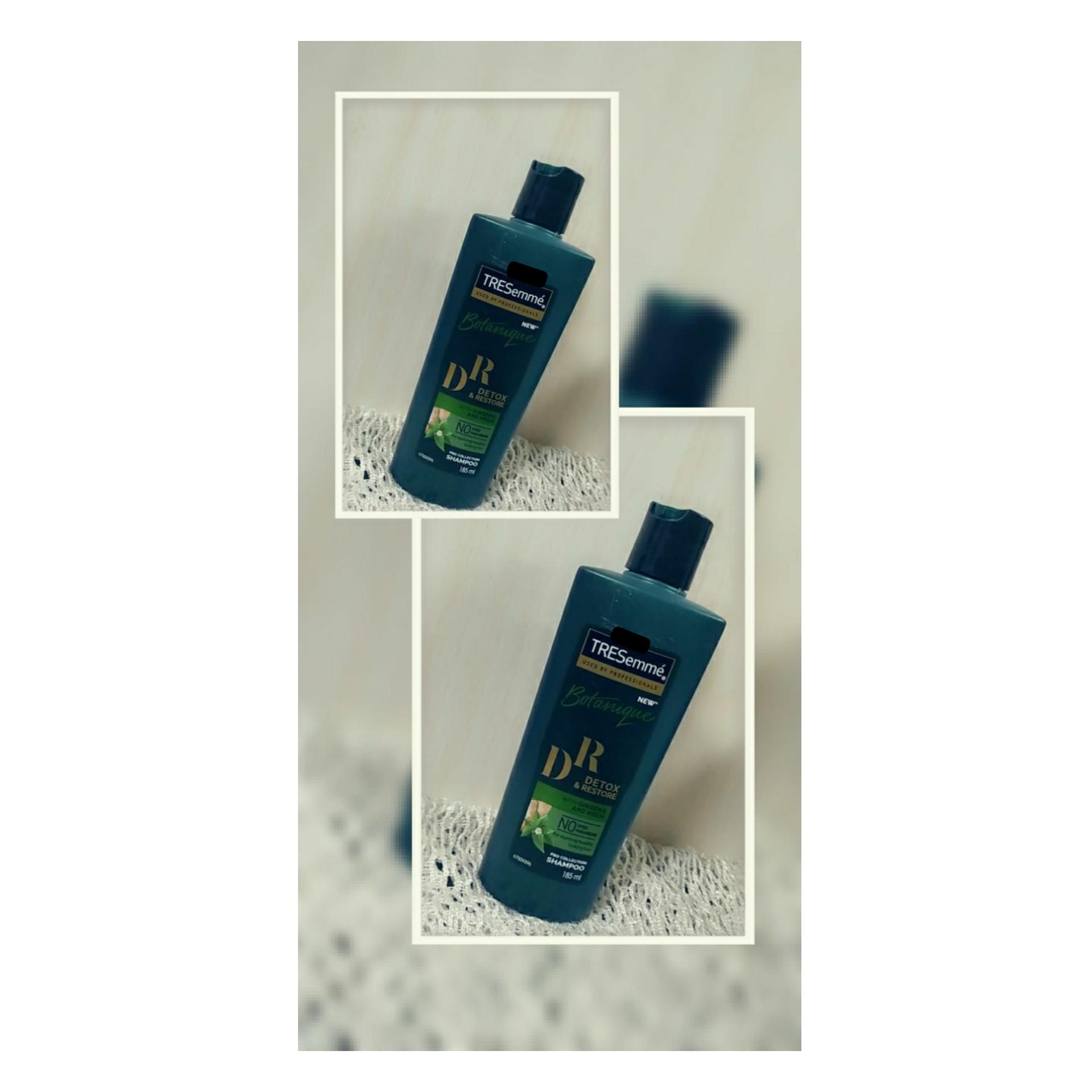 Tresemme Botanique Detox & Restore Shampoo-Clean hair-By taniyajoshi13