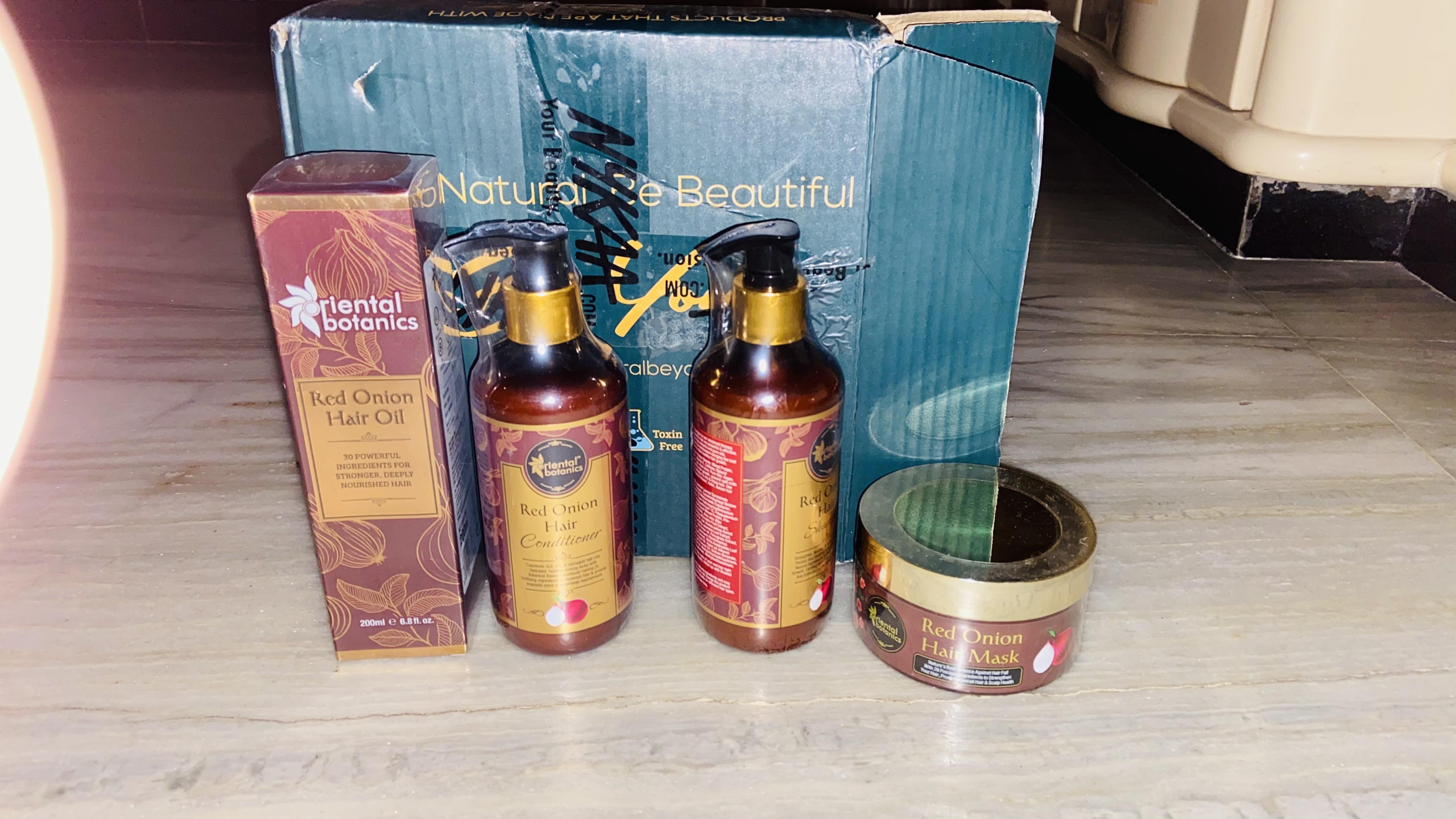 Oriental Botanics Red Onion Hair Shampoo + Conditioner + Oil -Best hair kit-By bharti_jain1