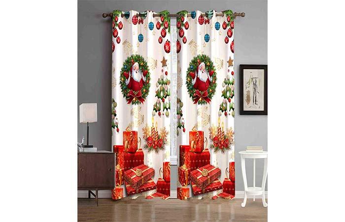 Christmas curtain