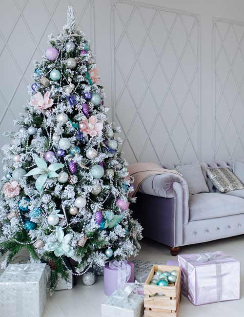 Fake Frosted Christmas Tree
