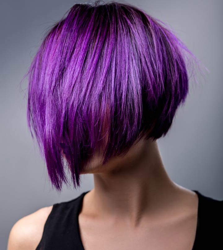 How to Dye Your Dark Hair Purple Without Bleaching It