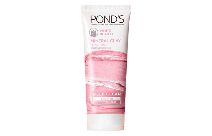 PONDS WHITE BEAUTY Mineral Clay Facial Foam