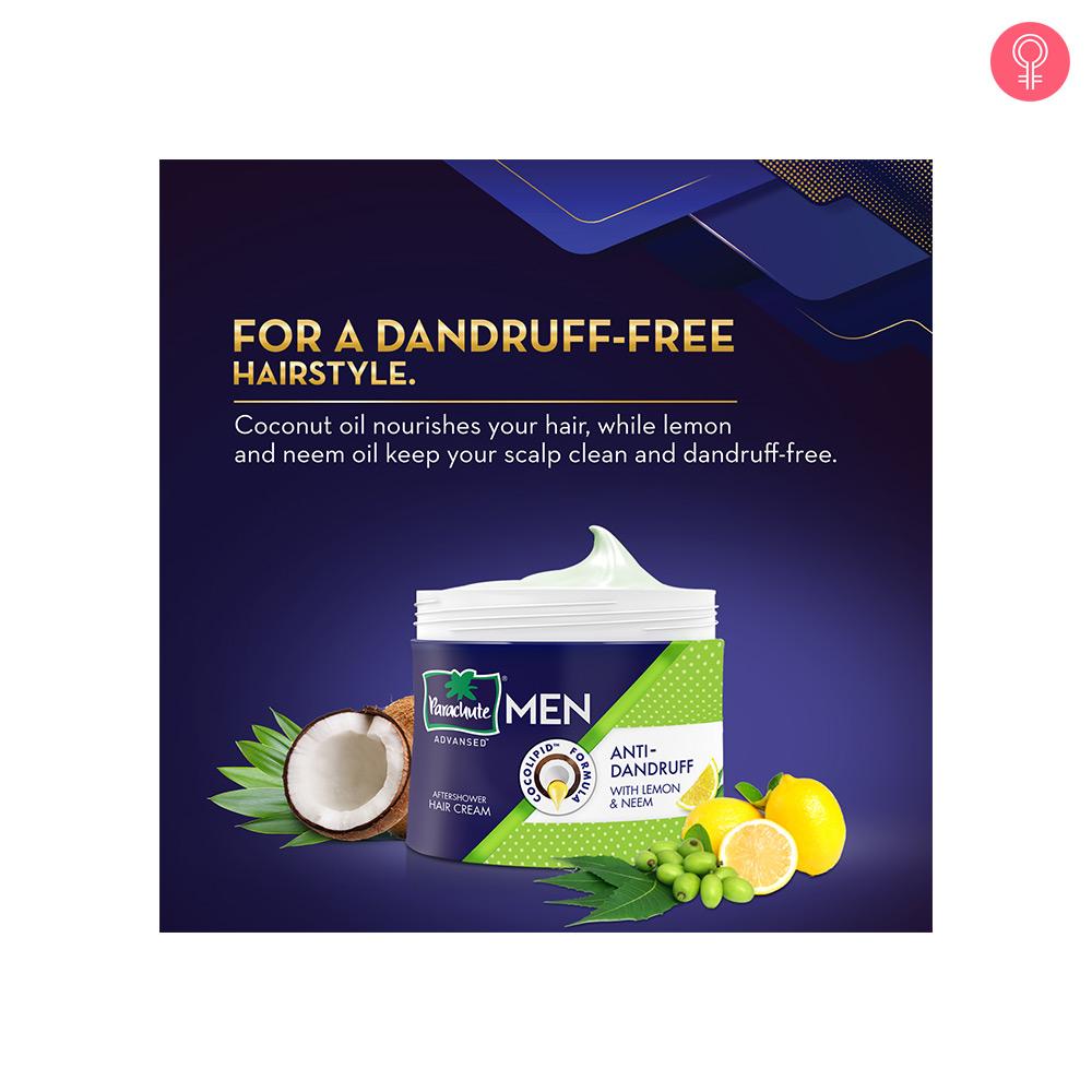 Parachute Advansed Men Anti Dandruff Hair Cream, With Lemon & Neem