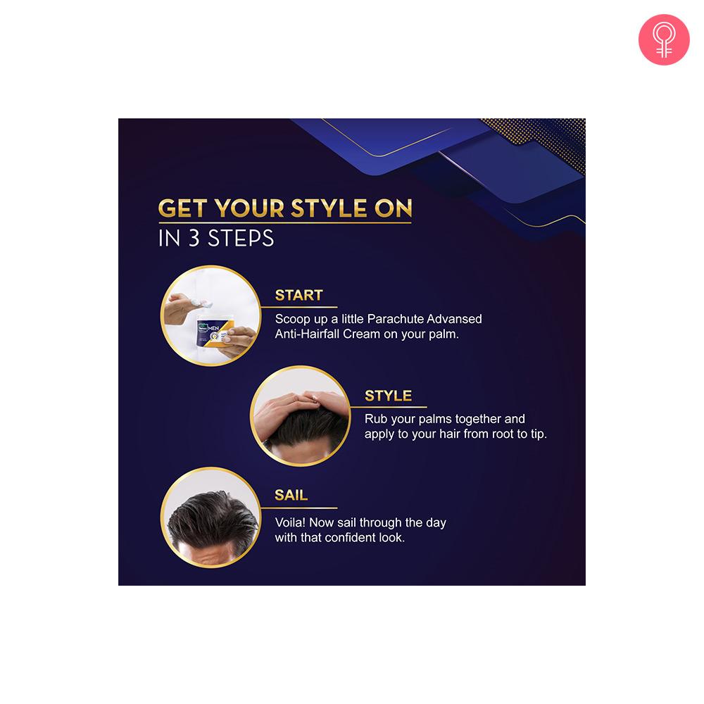 Parachute Advansed Men Anti Hairfall Hair Cream, With Almond Oil