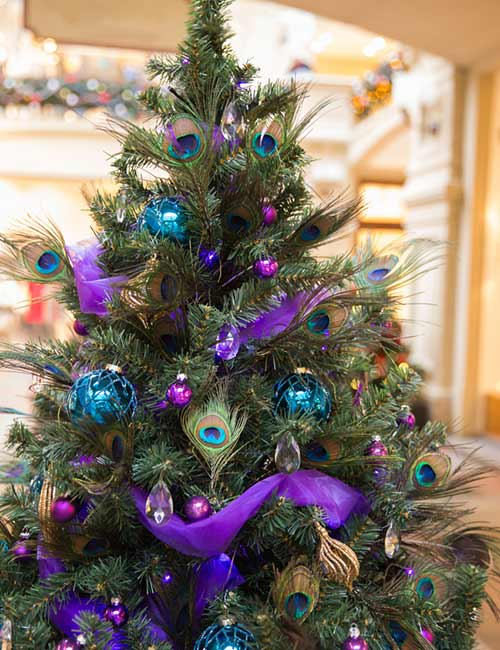 Peacock Baubles Tree