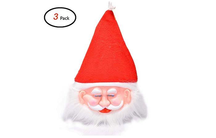 Santa claus rubber mask