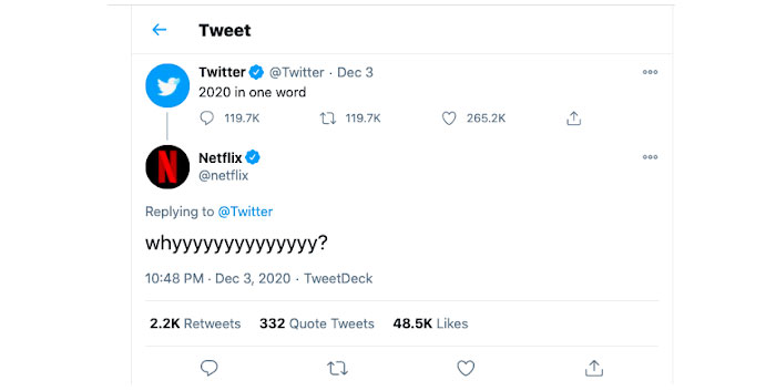 Twitter is the month of December 2020-2