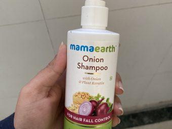Mamaearth Onion Hair Fall Shampoo for Hair Growth & Hair Fall Control -It is a great shampoo for hairfall control.-By kashish_mehta