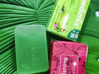 Medimix Ayurvedic Natural Glycerine soap with Lakshadi Oil pic 2-Love this new launch of Medimix-By indica_roy